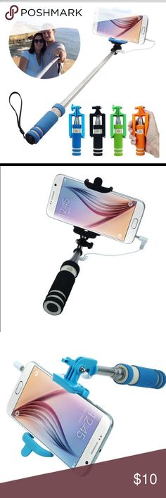 GET ALL 4 COLORS FOR THE PRICE OF 1 HAND HELD SELFIE STICK EASY TO TAKE PICS WHEN ON VACATION OR HANGING OUT WITH FRIEND Accessories Phone Cases