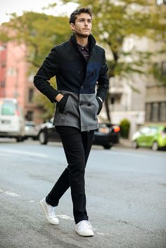 Howe shirt & coat | Joes Jeans | Sandro Paris seakers | http://iamgalla.com/2014/11/howe/