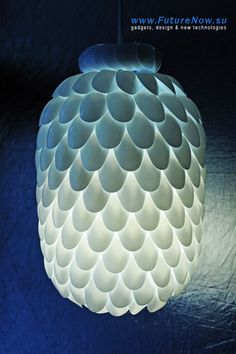 Cool DIY Ideas for Fun and Easy Crafts - DIY Plastic Spoon Light Fixture - Cheap DIY Lighting Ideas and Easy Homemade Pendant Light- Awesome Pinterest DIYs that Are Not Impossible To Make - Creative Do It Yourself Craft Projects for Adults, Teens and Twee