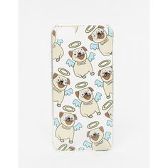 Skinnydip Angel Pug iPhone 5/5s Case ($21) ❤ liked on Polyvore featuring accessories, tech accessories and multi
