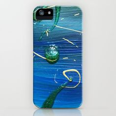 Blue - green abstract painting with glitters and gold iPhone Case by bublinko Blue Green, Iphone Cases, Glitter, Abstract, Artwork, Artist, Shop, Gold, Stuff To Buy