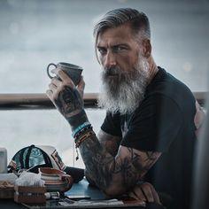 Hipster Haircut For Men Moustache, Hipster Haircut, Beard Love, Men Beard, Epic Beard, Grey Beards, Men With Grey Hair, Beard Grooming, Awesome Beards