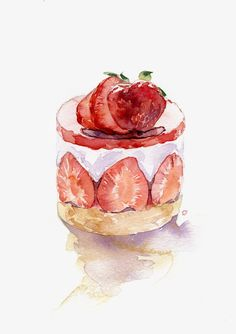 strawberry clipart,cake clipart,dessert,students c Cake Drawing, Food Drawing, Drawing Ideas, Food Design, Strawberry Clipart, Cake Clipart, Desserts Drawing, Arte Do Kawaii, Food Art Painting