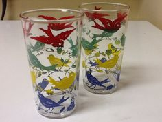 Vintage Multi Colored Swanky Swigs with by GrammysBasementFinds