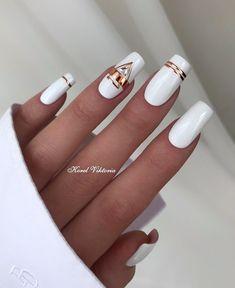 Chic Nails, Stylish Nails, Trendy Nails, Pretty Nail Art, Beautiful Nail Designs, Elegant Nail Art, Elegant Nail Designs, Best Acrylic Nails, Acrylic Nail Designs