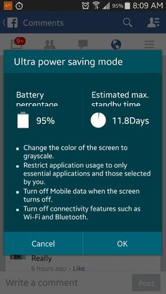 Samsung Galaxy S5 Battery life in Ultra Power Saving Mode