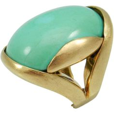 1STDIBS.COM Jewelry & Watches - Modernist Turquoise Ring - Park Place... ❤ liked on Polyvore