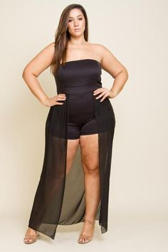 Plus Size Sexy Tail Romper Plus Size Looks, Curvy Plus Size, Plus Size Girls, Plus Size Model, Plus Size Romper, Plus Size Leggings, Plus Size Dresses, Plus Size Outfits, Curvy Women Outfits