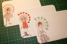 Free Vintage Girl Notecards and Decorative labels