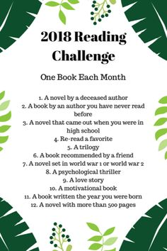 2018 Reading Challenge! #reading #books #readingchallenge