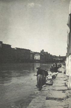 Lavanderie sul greto dell'Arno (1895 circa) - Archivi Alinari