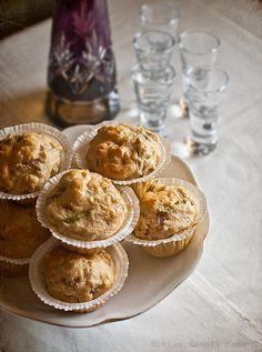 Muffins d'espelta amb espàrregs i formatge