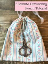 Easiest Drawstring Bag Tutorial for sewing beginners. Great project for keeping … Easiest Drawstring Bag Tutorial for sewing beginners. Great project for keeping toys tidy, collecting tomatoes in the garden, or holding craft supplies! Easy Sewing Projects, Sewing Tutorials, Sewing Crafts, Sewing Patterns, Felt Patterns, Sewing Ideas, Drawstring Bag Tutorials, Drawstring Pouch, Diy Crafts To Do