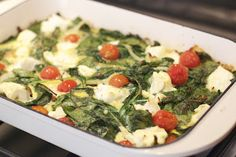Frittata - Spinach, Ricotta and tomato! :D