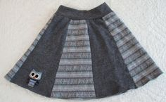 Handmade recycled wool owl skirt. Currently for sale!