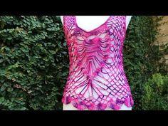 Aprende a Tejer Blusa Crochet con dos Piñas / Tutorial   Crochet y Dos agujas