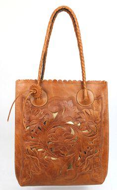 Patricia Nash Mixed leather tote. Accessories Magazine