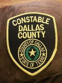 Police patche Constable Dallas County Texas
