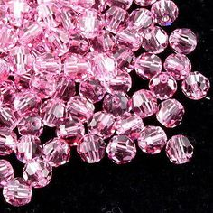 Swarovski Crystal 6mm 5000 Round Bead Light Rose (223)