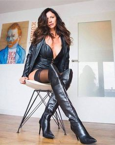 This started out as a place for me to repost pics i like of women wearing boots, but evolved in to a place for any pic of any girl, lady or woman that I consider stunning in any way. Thigh High Boots, High Heel Boots, Over The Knee Boots, Leather Fashion, Fashion Boots, Fashion Outfits, Womens Fashion, Leather Bustier, Leather Boots