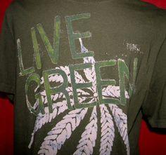 Live Green Cannabis Marijuana Leaf Reefer Pot Weed by KillWalmart, $15.00