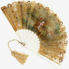 Antique French Mother of Pearl Fan Artist Signed Hand Painted Silk Antique Fans, Vintage Fans, Vintage Items, Hand Held Fan, Hand Fans, Fan Language, Fan Decoration, Old Fan, Hat Pins