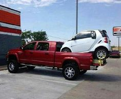 Who needs a tow truck when you got a Dodge