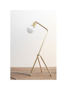 Modern Table Lamp  Mid Century Table Lamp  Brass by PhotonicStudio