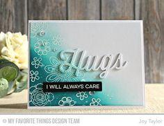 Doodled Blooms Card Kit, Twice the Hugs Die-namics - Joy Taylor #mftstamps
