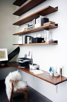Home office wall shelving Storage Office Small Home Office Ideas Design Inspiration With Wall Shelves Office Workspace Office Walls Office Pinterest Best Office Wall Shelves Images Shelves Wall Storage Shelves