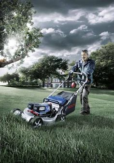 Bosch GRA 53 professional lawn mower powered by lithium-ion battery —quieter than petrol