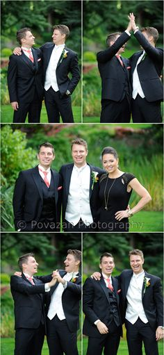 St Anns Abbotsford wedding   Vancouver Wedding Photographers - funny and cool bridal party formals in garden park