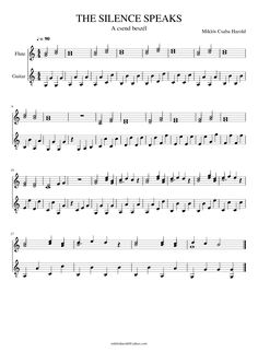 Sheet music made by Miklós Csaba-Harold for 2 parts: Flute, Guitar