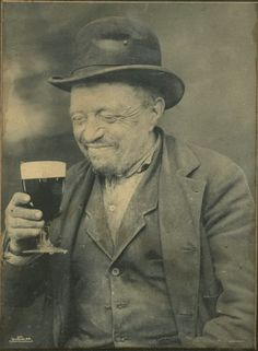 ca. 1899, a man and his beer .. I've seen that very grin thousands of times...lol