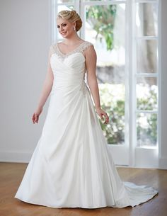 The award-winning Unforgettable collection of plus size wedding dresses by Bonny Bridal has been created with three essential elements in mind – style, romance and tradition. Wedding Dress Chiffon, Bridal Wedding Dresses, Wedding Dress Styles, Venus Wedding Dresses, Beautiful Wedding Gowns, Perfect Wedding Dress, Dream Wedding, Bonny Bridal, Curvy Bride
