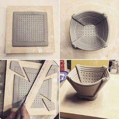 "Mini folded bowl assembly. 1 3/4"" h x 2 3/4"" w"
