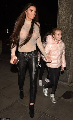 Oops! Katie Price suffered an accidental fashion faux-pas as she went braless in a complet...