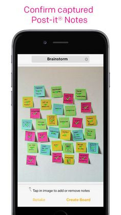 The Post-It Plus App Helps Virtually Organize Physical Sticky Notes #collaboration trendhunter.com