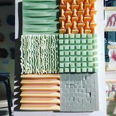 -different surface values -subtle colour-way Design Textile, Textile Patterns, Textiles, Material Research, Tactile Texture, Acoustic Panels, Fabric Manipulation, Material Design, Surface Design