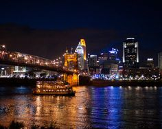 Evening Cruise by JIm Simpson on Capture Cincinnati // A local party boat cruising the Ohio River-River Queen