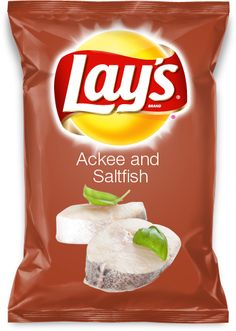 A traditional Jamaican dish as a chip.... sign me up! Ackee and Saltfish  #Jamaica #Vote #Lays