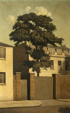 Sunshine in Hampstead by Algernon Cecil Newton, painted: Landscape Art, Landscape Paintings, Urban Landscape, Landscapes, London Painting, Royal Academy Of Arts, Art Uk, Your Paintings, Art Pictures