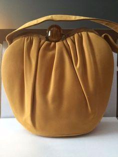 Rare-Yellow-vintage-Dofan-calfskin-purse