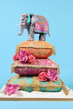 Oriental Wedding cake by Robin Wedding Cake - For all your cake decorating supplies, please visit craftcompany.co.uk