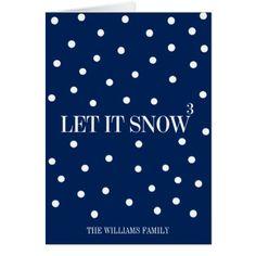 Let It Snow Christmas Holiday Greeting Card - Xmascards ChristmasEve Christmas Eve Christmas merry xmas family holy kids gifts holidays Santa cards