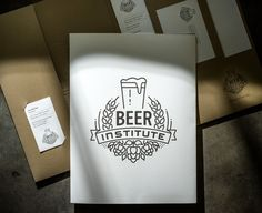 Beer Institute : Lovely Stationery . Curating the very best of stationery design