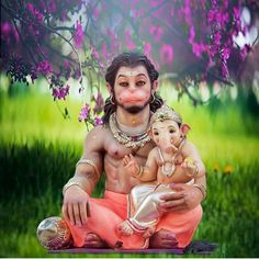 When you find the perfect picture. Having recently finished a Sadhana dedicated to Lord Hanuman and now in Sadhana dedicated to Ganesha. Hanuman Chalisa, Durga, Shree Ganesh, Shiva Shakti, Lord Ganesha, Lord Vishnu, Lord Shiva, God Pictures, Hindu Art