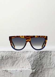 Shadow Sunglasses in Havana and Navy Acetate With Gradient Grey Lenses