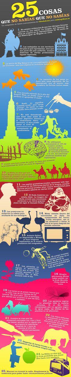 25 cosas que puede que conozcas mal #infografia #infographic - http://www.cleardata.com.ar/infografia/25-cosas-que-puede-que-conozcas-mal-infografia-infographic.html