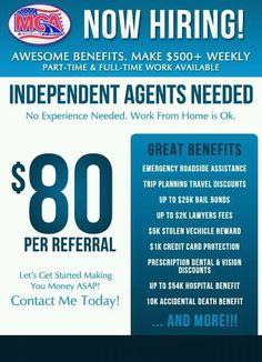Independent Agents Needed Motor Club of America MCA | MCA BENEFITS ...